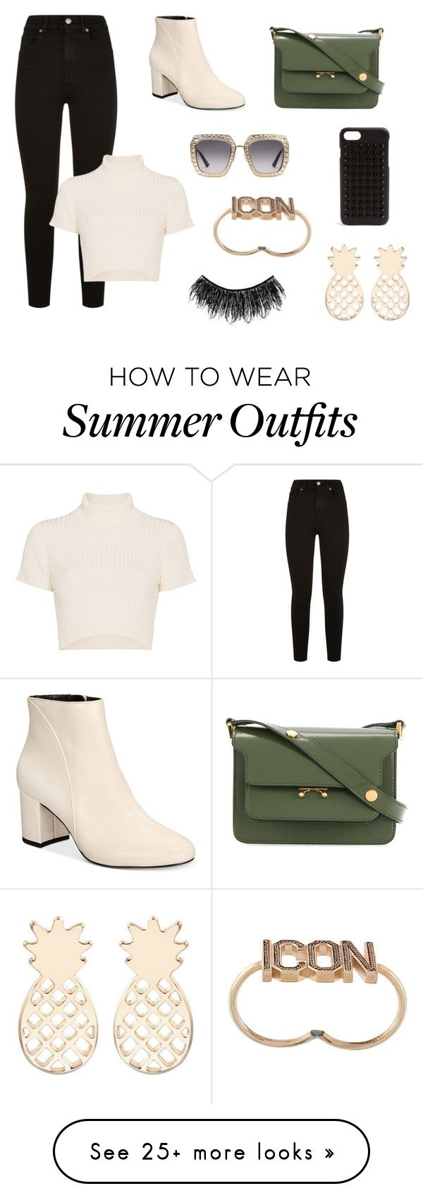 """0f1f21da44e Summer Outfits   """"casual modern outfit"""" by lena-topouzi on Polyvore  featuring 7 For All Mankind"""
