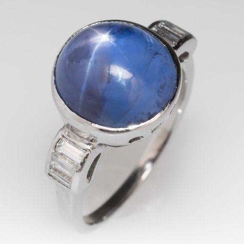 1960's Vintage Blue Star Sapphire Ring