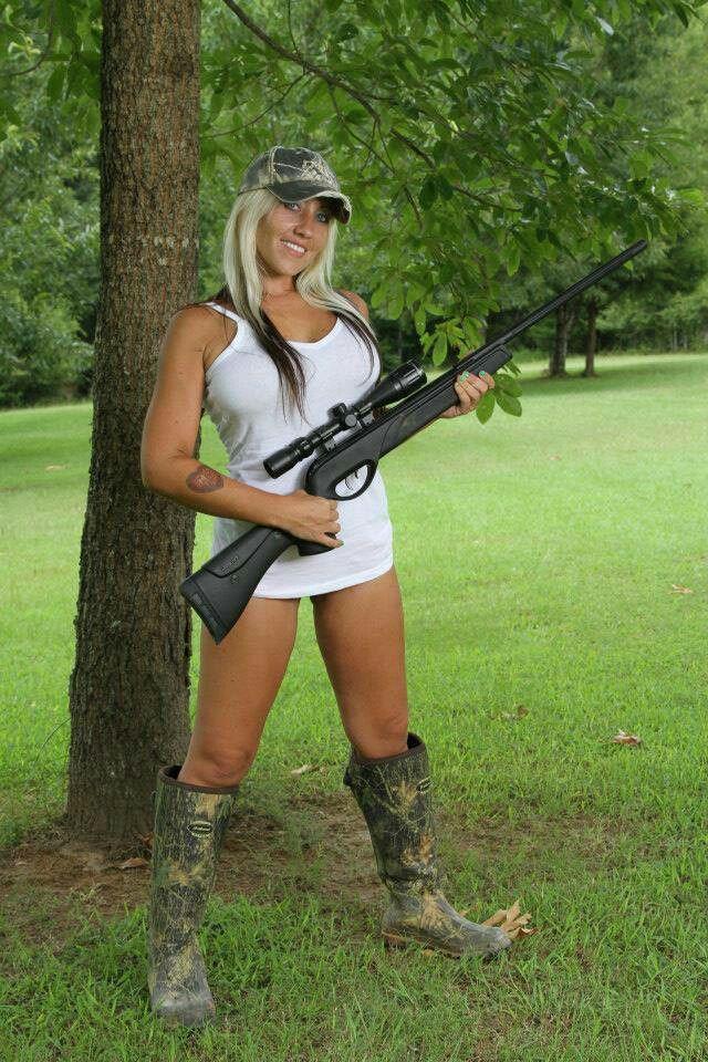 naked ebony girls with guns