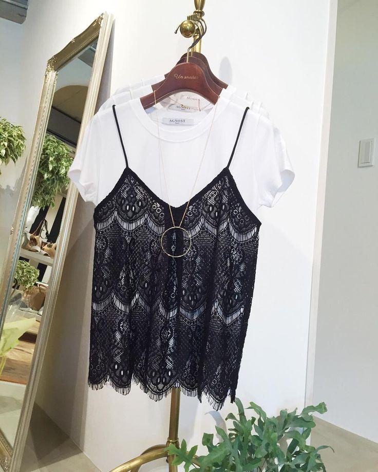 New arrival AGNOSTのキャソールsetT-shirt(O) 私も欲しかったのでちゃっかりお買い上げ colorwhitebeigeblack 12000tax  denimでも ワイドワイドpantsでも ガウチョでも もちろんスカートも 合わせやすくてインナー変えても可愛いし #着まわし きくきく  #今日のコーデ #ファッション #アラサー女子 #ママコーデ #love #吹田市セレクトショップ #吹田市unsourire #吹田市セレクトショップアンスリール #セレクトショップアンスリール #キャミ #キャミソール #tshirt #agnost #可愛い #set #レース #lace #本日もありがとうございました