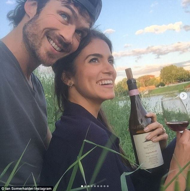 Doting husband: Ian Somerhalder, 38, gushing about pregnant wife Nikki Reed, 29, as he pos...