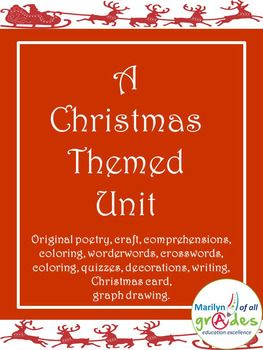 This is a unit about the Christmas season. It is designed for the students to enjoy and have fun. There are also activities that will challenge the students. I have included reading comprehensions, poetry writing and appreciation, story writing, craft, a quiz, wonderwords and crosswords.