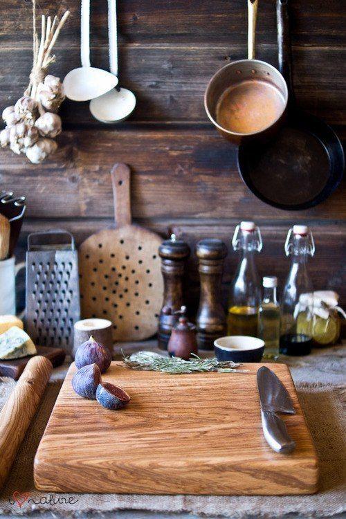 Earthy rustic kitchen