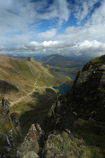 There was another friend I used to go walking round Snowdonia national park with. He knew all the routes and was equipped with satnav. I can't remember the names of the walks now! They were reasonably steep climbs.