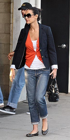 Boyfriend Blazer, Jeans & Ballet Flats worn by Demi Moore