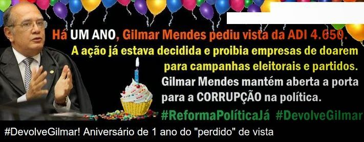 Hoje, protesto em frente ao STF para Gilmar largar o osso #DevolveGilmar   Os Amigos do Presidente Lula