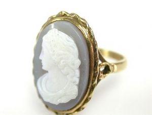 Chalcedony Cameo Ring