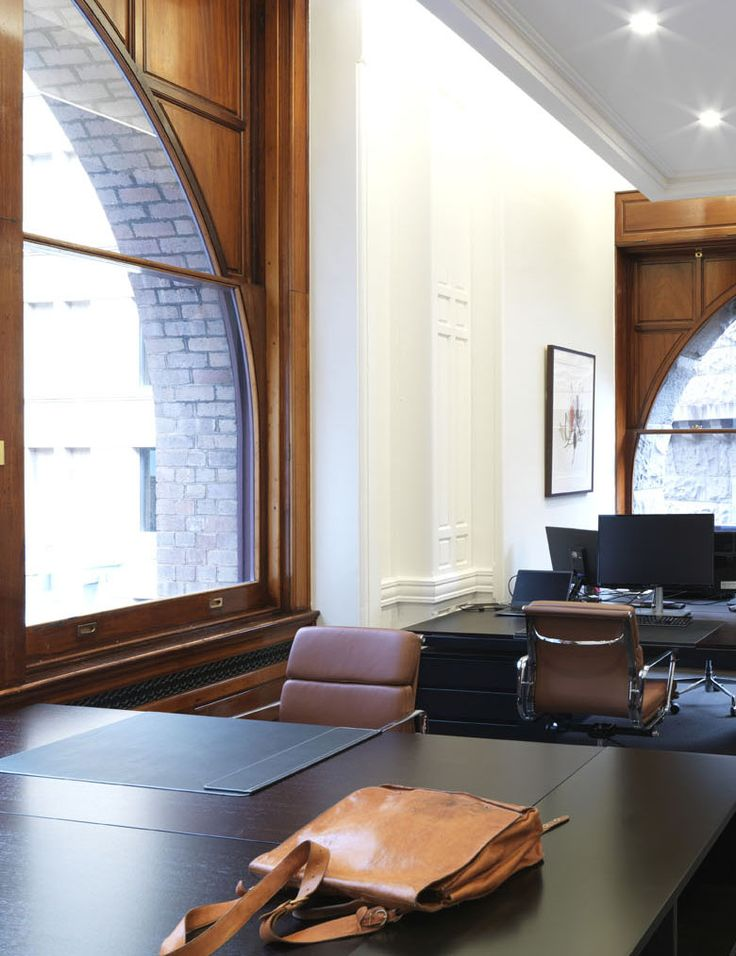 PIPECLAY LAWSON OFFICES | alwill  #study #office #leather #window #desk #interiors #wood