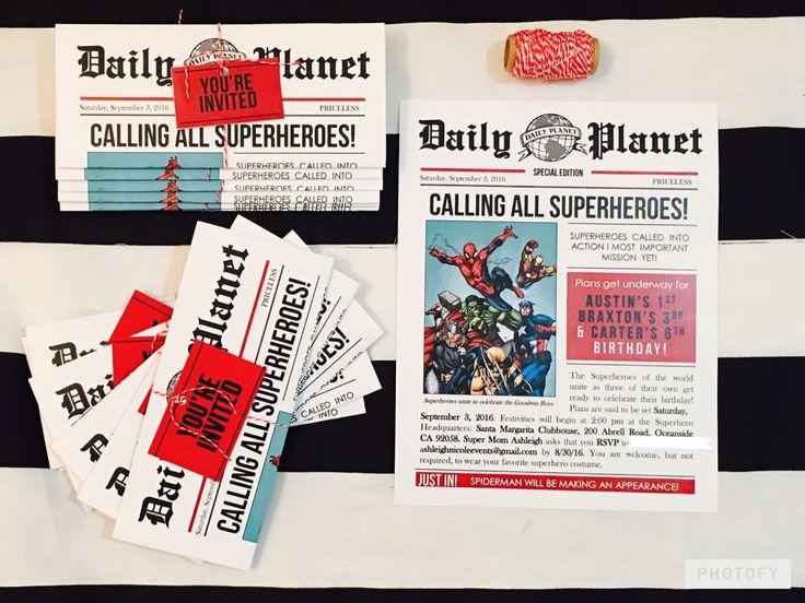 best 25+ superhero invitations ideas on pinterest | superhero, Party invitations