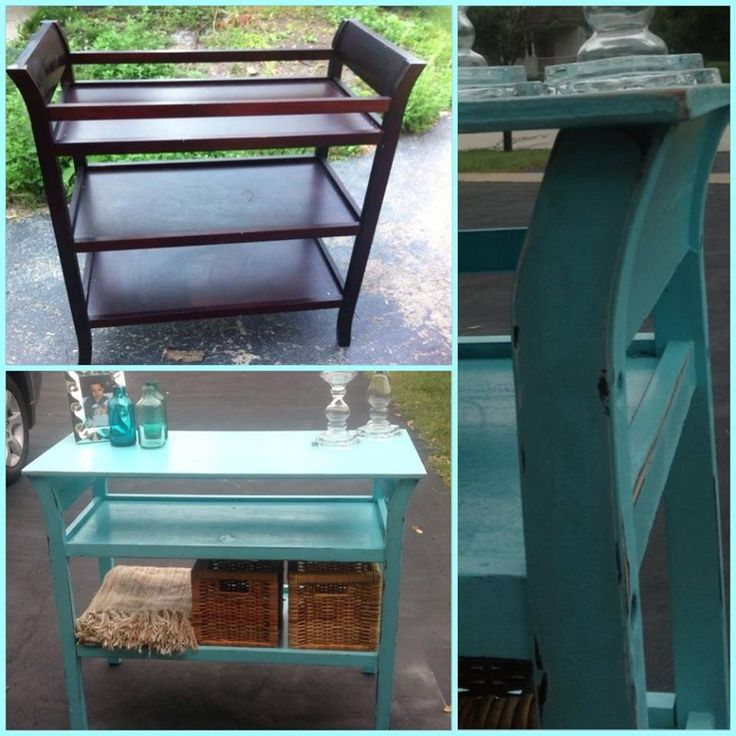 repurpose changing table for girl - Google Search