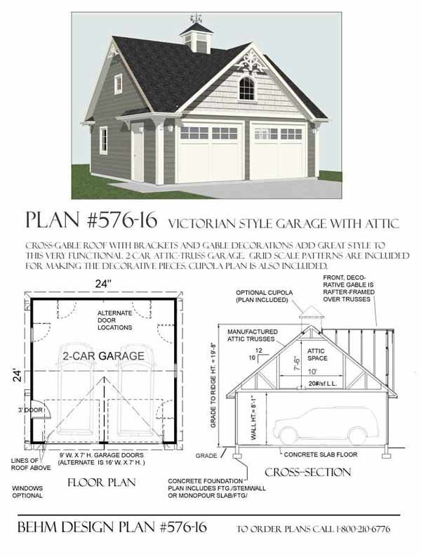 Garage plans by behm design pdf plans a collection of for Victorian garage plans