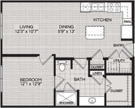 Floorplans A1 1 BEDROOM 1 BATH