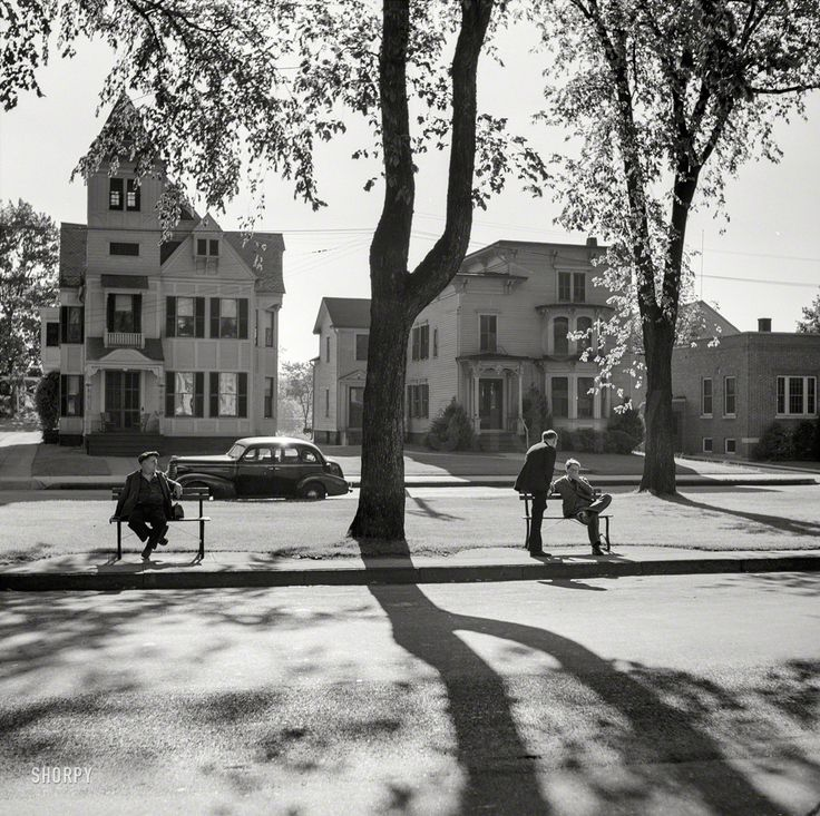 """May 1942. Southington, CT. """"A street scene."""" by Fenno Jacobs for Office of War Information. Shorpy Historic Picture Archive"""