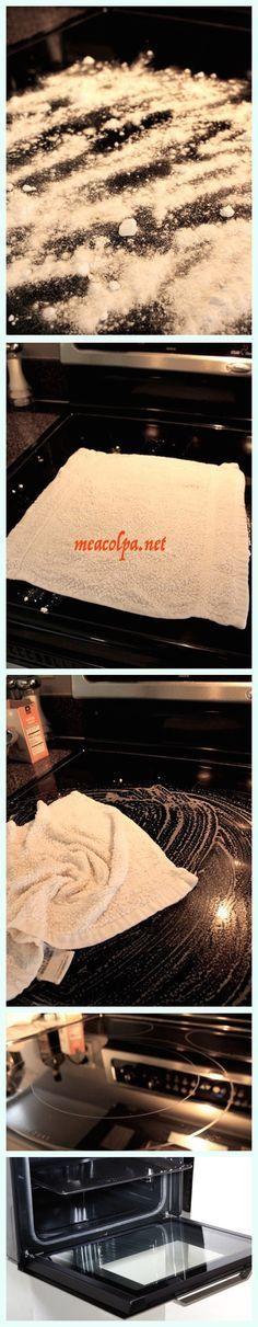 καθάρισε το τζάμι του φούρνου