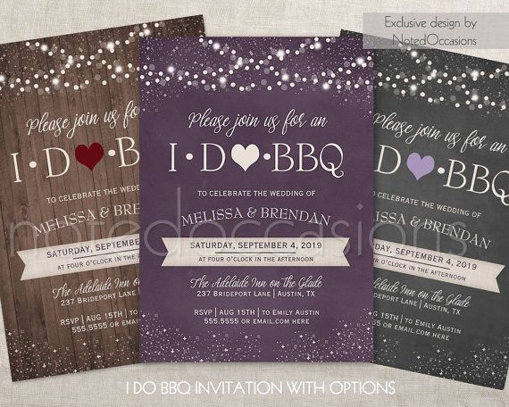I DO BBQ Invitations Printable I Do Barbeque Wedding Reception Only Wedding shower, Printable Digital Invitation Wedding Country Design by NotedOccasions