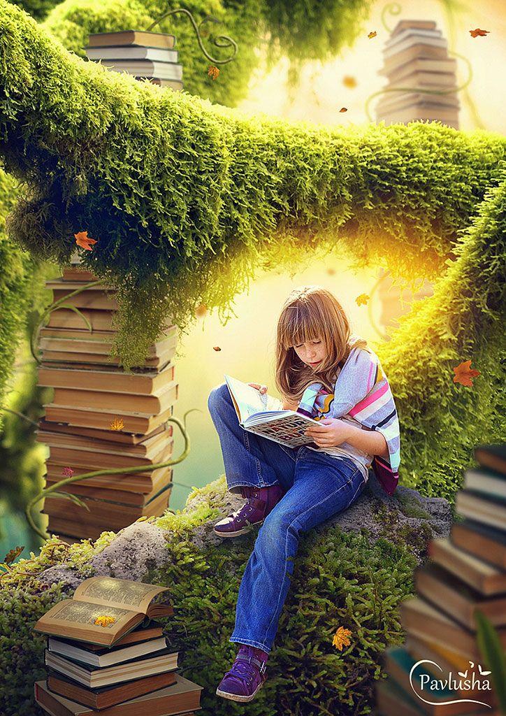 В этом уроке вместе с Еленой Минаковой вы создадите коллаж с любознательной девочкой, которая любит читать интересные познавательные книги.