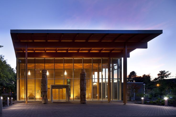 First Peoples House, Victoria, BC, Main Entrance, Formline Architecture, photo: Nic Lehoux