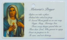 Sacred Heart of Mary & the Motorist's Prayer.