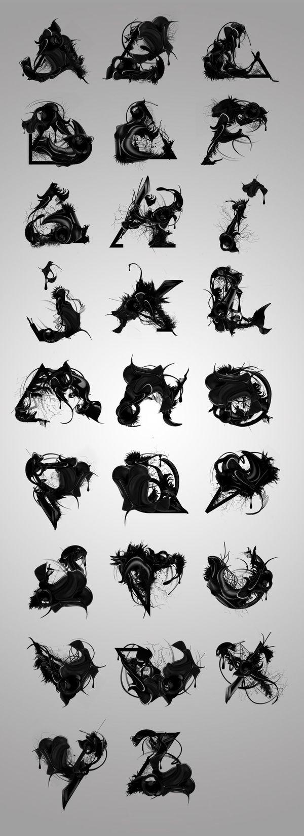 Trisec experimental typefaces - Organic (http://www.behance.net/gallery/TRISEC-FONTS-COLLAB/540221)