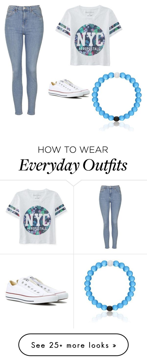 """Everyday outfit"" by lindseywalicki on Polyvore featuring Aéropostale, Topshop and Converse"
