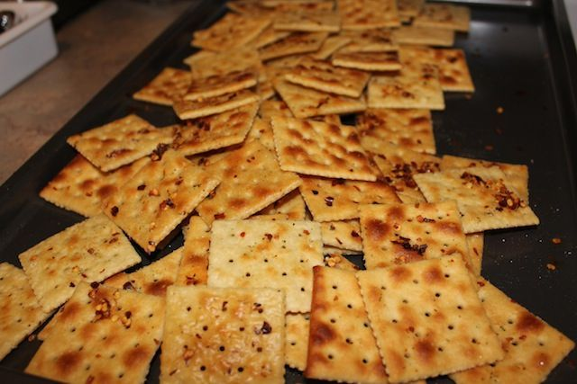 These crackers are so easy and so good. A lady at our church used to make them for us to take as snacks on our Mexico mission trips; I had forgotten about them until I started seeing similar recipes floating around Pinterest. I bought a box of saltine crackers last week while I was sick …