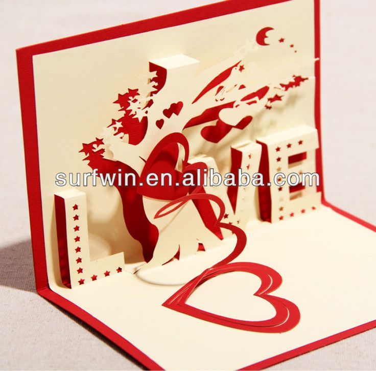 3d Pop Up Wedding Invitation Card Love Card View Pop Up