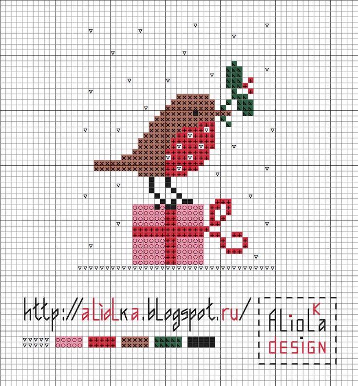 Christmas bird cross stitch