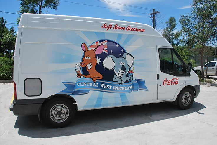 Central West Ice Cream Truck Wrap