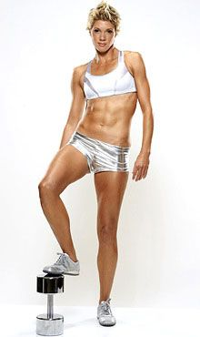 Love Jackie's abs... not too sure about those tin-foil-ish shorts though!