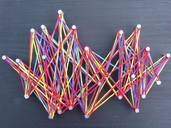 String Art Could Also Use Rubber Bands Rainy Day Blues