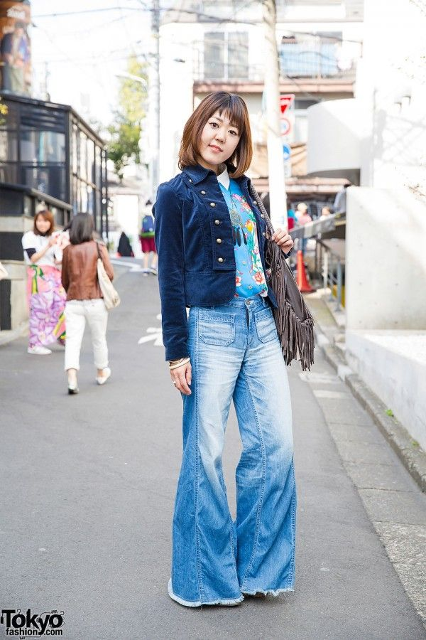 Harajuku Girl in 1970s Style Outfit  I love Vintage