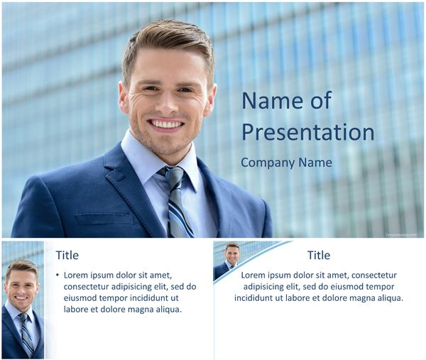 15 best templates ppt images on pinterest ppt template power great powerpoint template showing a young businessman smiling with a blue skyscraper background use this theme for presentation on business style toneelgroepblik Image collections