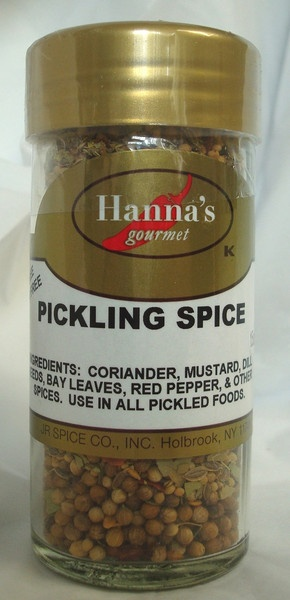 PICKLING SPICE: Ingredients: Coriander, Mustard Seeds, Dill Seeds, Bay Leaves, Red Pepper & other Herbs and Spices. Use to pickle your vegetables. INTERESTING FACT: Pickling began as a way to preserve food for out-of-season use & for long journeys, especially by sea. Salt pork & salt beef were common staples for sailors before the days of steam engines. Although the process was originally used to preserve foods, pickling is frequently done today because people enjoy the resulting flavor…