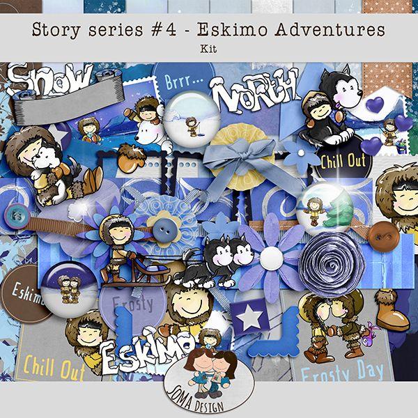 Oscraps.com :: Shop by Category :: All New :: SoMa Design Eskimo Adventures Kit