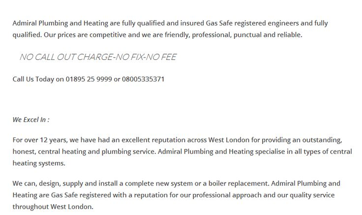 We can, design, supply and install a complete new system or a boiler replacement. Admiral Plumbing and Heating are Gas Safe registered with a reputation for our professional approach and our quality service throughout West London.#centralheatinginlondon,#admiralplumbinginuk,#AdmiralPlumbingandHeating,#PlumbingandHeatinginuk,#gasboiler,#Londonplumber