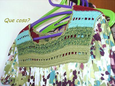 Atelier de Maria: Pala de crochê para vestido modelo bata.