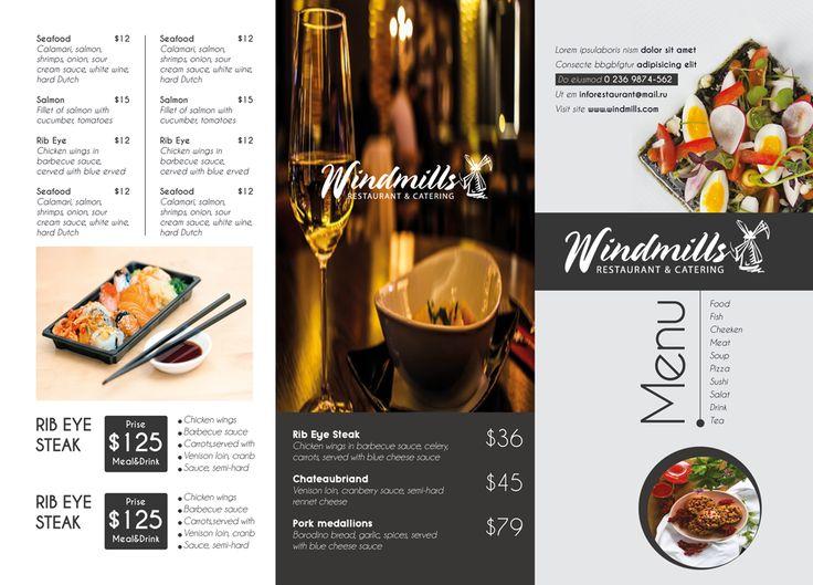 De 25+ bedste idéer inden for Restaurant brochure på Pinterest - restarunt brochure