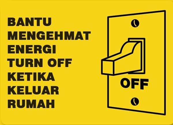 12 Contoh Poster Tentang Hemat Energi Listrik Serta Slogan Poster