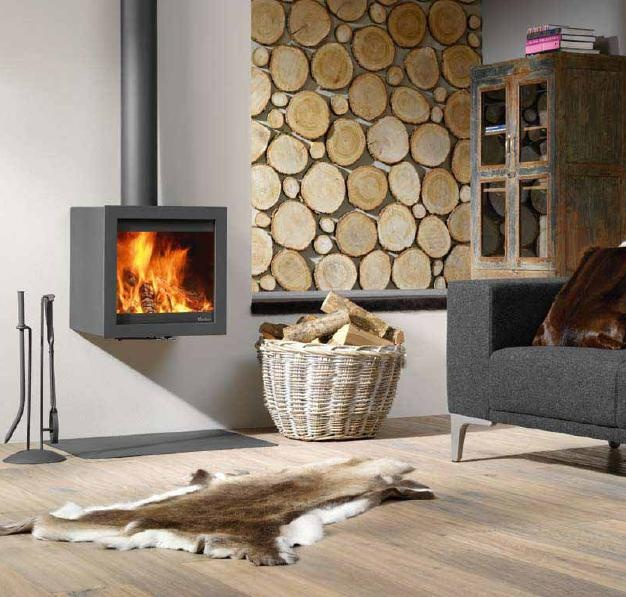 Hangende open haard #fireplace