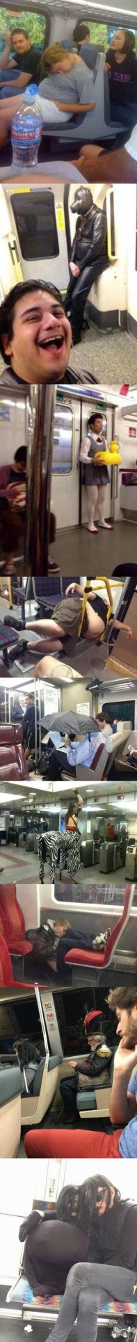 Mientras tanto, en el metro al que nunca te subes… - para mas chistes: Click aqui