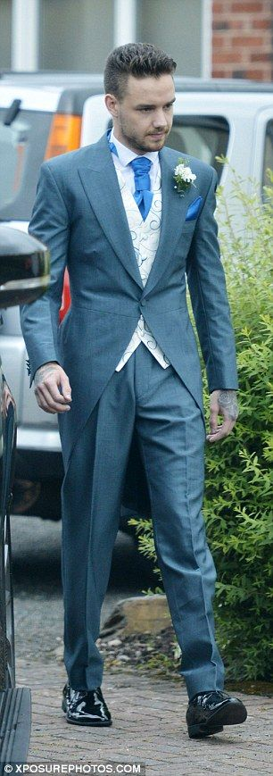 Dashing:Liam looked extremely smart for his sister's big day, in which Ruth looked a visi...