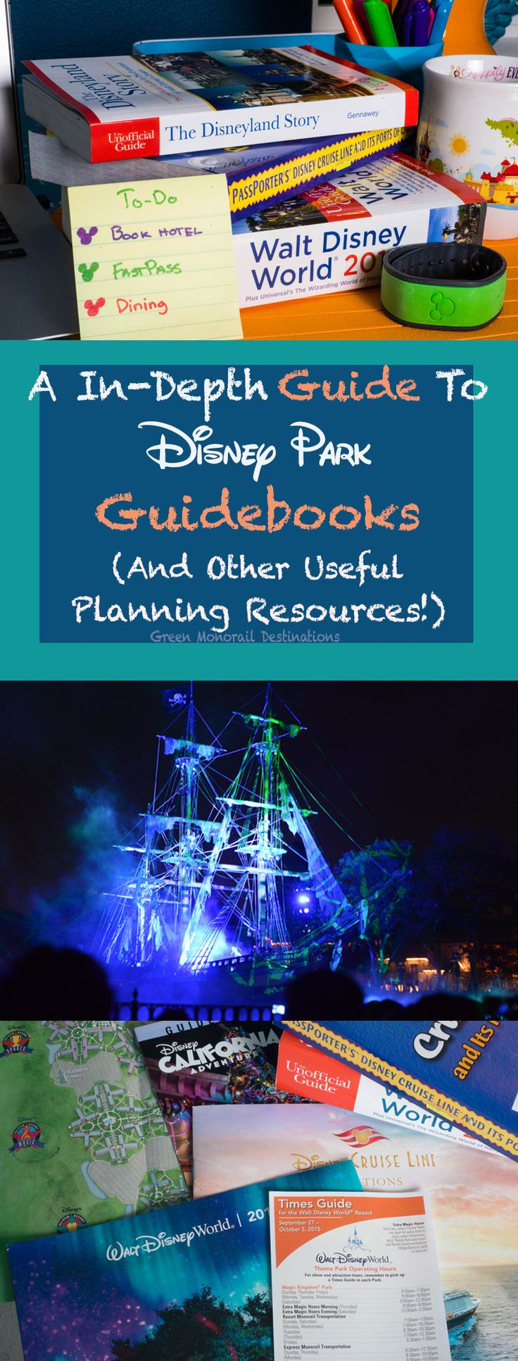 A complete guide to guidebooks and other planning resources to help you plan and organize your Disney vacation! #disneyworld #vacation #planning