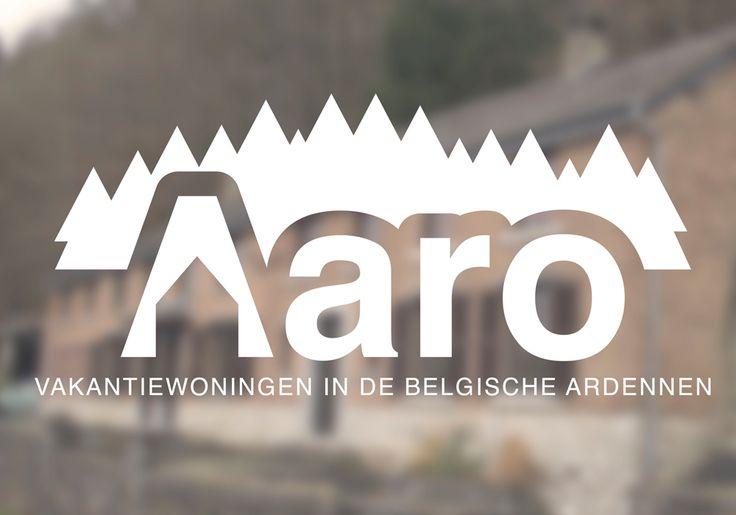 Eenvoudig, strak logo voor een verhuurder van vakantiewoningen in de Belgische Ardennen.