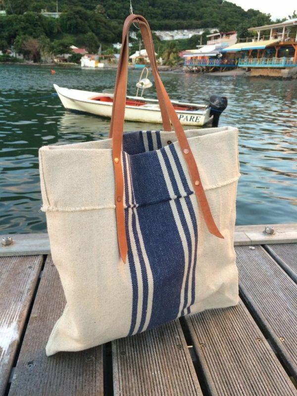 sac en toile, un sac cabas pour les vacances