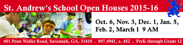 Come see all that St. Andrew's School in Savannah, Ga. has to offer at open houses 2015-16. Details: http://www.southernmamas.com/2015/open-houses-for-prospective-families-st-andrews-school-savannah/