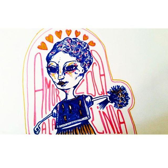 Respecto a San Valentín...amor a la loca linda, busca unas flores y un poco de música. Más que las declaraciones, la buena compañía el día de hoy es el amor. El tiempo. . . #sofialapenta #inspiracion #scarf #gift #fashion #fashiondesign #drawing #designed #ilustracion #illustration #surrealism #art #sketchbook #love #work #artwork #studio #painting #welivetoexplore  #spreadlove  #visualsoflife #welltraveled  #explore #sanvalentinesday