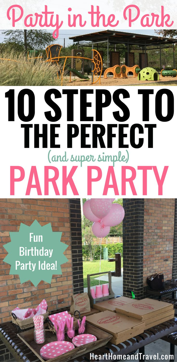 Looking for a fun and affordable way to celebrate your child's birthday? Check out these steps to throw a simple and fun Party in the Park! via @hearthometravel