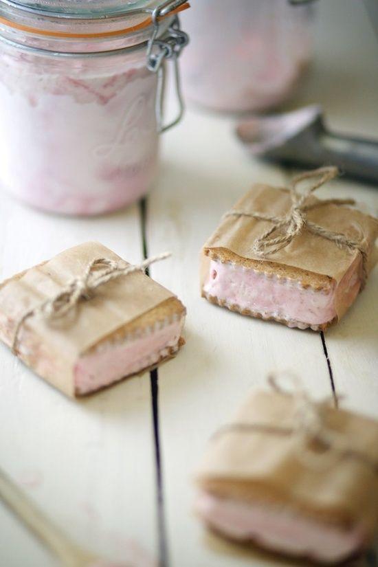 Recipe for Black Plum Ice Cream and Homemade OatnGraham Cracker Sandwiches.