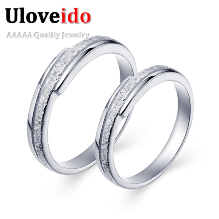 Find More Rings Information about Women Engagement Ring Joyas de Plata Silver Plated Couple Double Rings Men Wedding Anniversary Cheap Chinese Goods J034 Haixv,High Quality ring bearer wedding gift,China ring wizard Suppliers, Cheap ring wallpaper from ULOVE Fashion Jewelry on Aliexpress.com