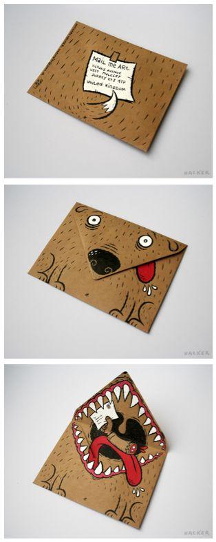 Briefumschlag Hund